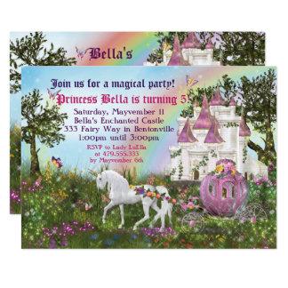 Enchanted Unicorn Castle Princess Party Invitation