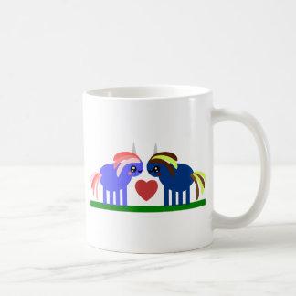 Enchanted Unicorn Falls in Love Coffee Mug