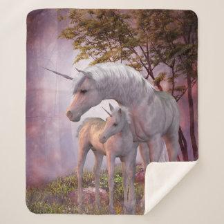 Enchanted Unicorns Medium Sherpa Fleece Blanket