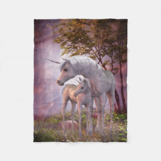Enchanted Unicorns Small Fleece Blanket