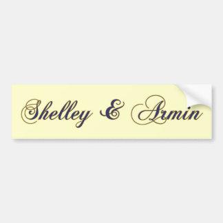 Enchanted Wedding Car Bumper Sticker