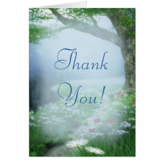 Enchanted Woodland Forest Wedding Thank You Card