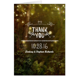 Enchanted Woodland Rustic Wedding Thank You Cards