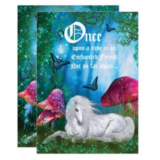 Enchanted Woodland Unicorn Forest Party Invitation