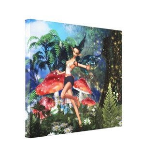 Enchanting Cupcake Stretched Canvas Prints