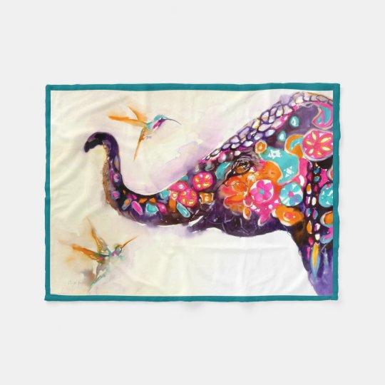 """Enchanting Friends"" Hummingbird & Elephant Fleece"