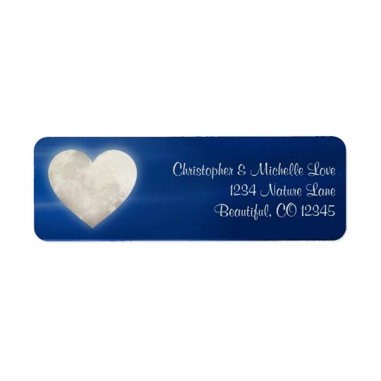 Enchanting Heart Moon Address Return Address Label