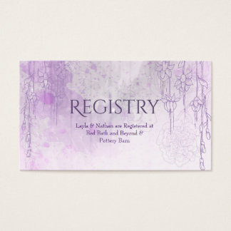 Enchanting Purple Wedding Registry Card