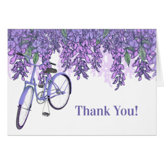 Enchanting Wisteria Bicycle Thank You Card