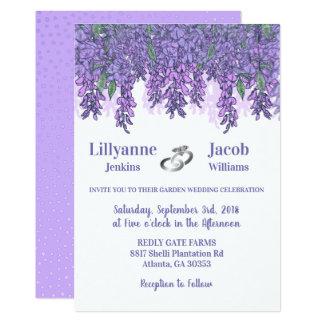 Enchanting Wisteria Garden Wedding Card