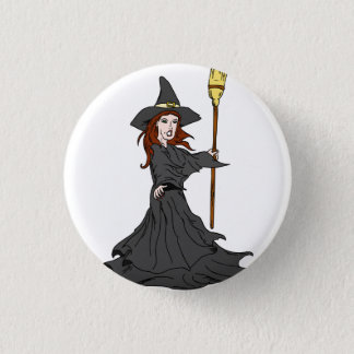 Enchanting Witch 3 Cm Round Badge