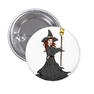 Enchanting Witch 3 Cm Round Badge