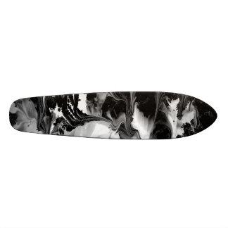 ENCHANTMENT  (black & white abstract art) ~ 21.6 Cm Old School Skateboard Deck