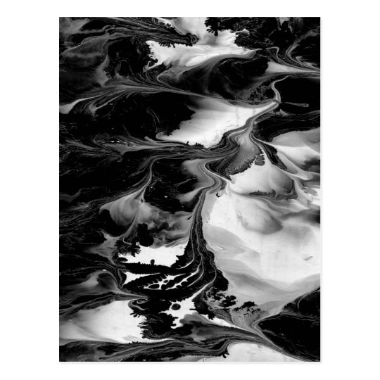 ENCHANTMENT  (black & white abstract art) ~ Postcard
