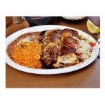 Enchiladas Rice Beans Postcard