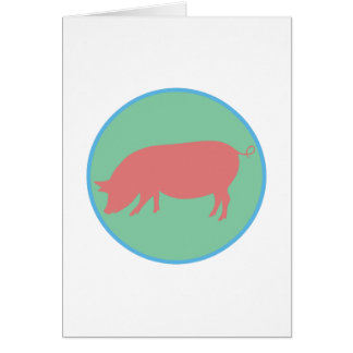 Encircled Swine Greeting Card