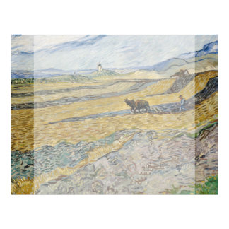Enclosed Field with Ploughman by Vincent Van Gogh 21.5 Cm X 28 Cm Flyer