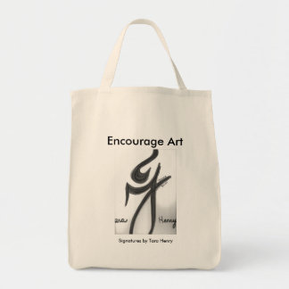 'Encourage Art' Organic Tote featuring 'Signatures Grocery Tote Bag