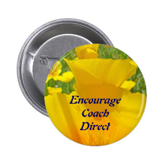 Encourage Coach Direct buttons Orange Floral Poppy
