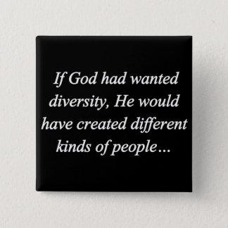 Encourage Diversity Reverse (sq) 15 Cm Square Badge