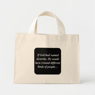 Encourage Diversity Reverse (sq) Mini Tote Bag