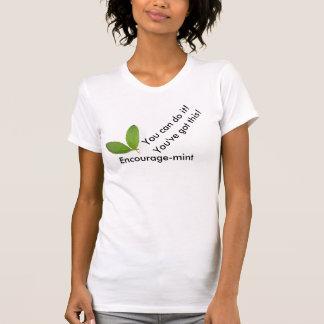 Encourage-mint tee for women