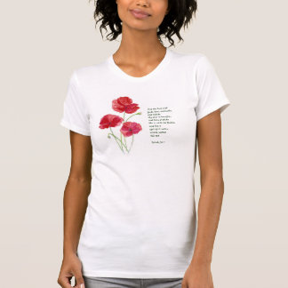 Encourage Scripture Isaiah Poppy Garden Flower T-Shirt