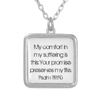 encouragement bible verse Psalm 119:50 Necklace