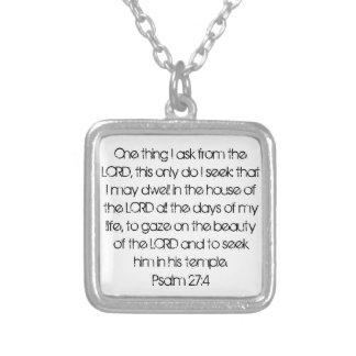 Encouragement bible verse Psalm 27:4 necklace