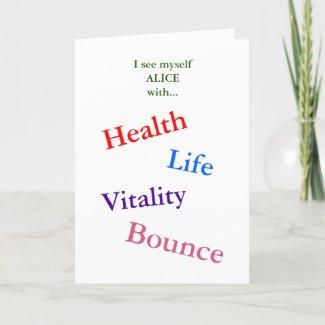 Encouragement card | Health affirmations