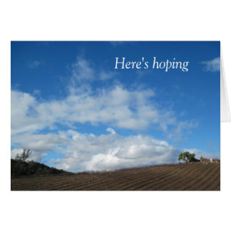 Encouragement Card: Hoping all your clouds Greeting Card
