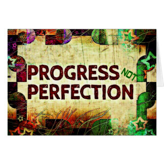 Encouragement Card - Progress Not Perfection
