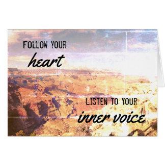 "Encouragement/Congrats ""Follow Your Heart"" Card"