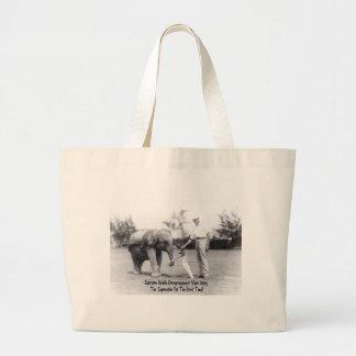 Encouragement - Elephant Playing Golf Tote Bag