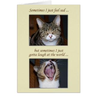 Encouragement for an Illness, Cute Cat Card