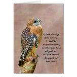 Encouragement, Get Well, Spiritual, Hawk on a Limb Greeting Card
