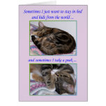 Encouragement Greeting Card, Photos of a Cat Greeting Card
