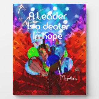 Encouragement  message for leadership. plaque