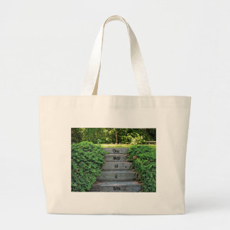 Encouragement: One step at a time Jumbo Tote Bag
