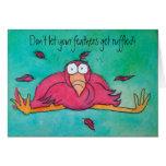Encouragement Pnk Flamingo Funny Humour Card