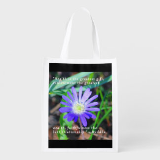 Encouragement Purple Wildflower Themed Bag
