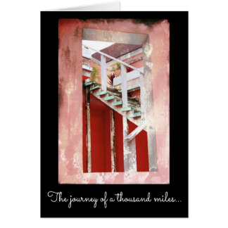 Encouragement - Teal Stairs Photo Card
