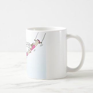 Encouragement to hang in there. coffee mug