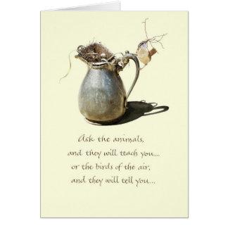 Encouragement/Wren Pitcher Greeting Card