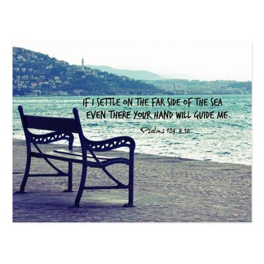 Encouraging Bible Verse Quote Postcard