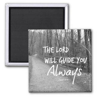 Encouraging Bible Verse Square Magnet