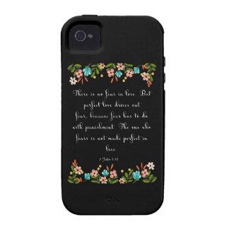 Encouraging Bible Verses Art - 1 John 4 18 iPhone 4 Cases