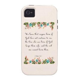 Encouraging Bible Verses Art - 1 John 5 18 iPhone 4/4S Cases