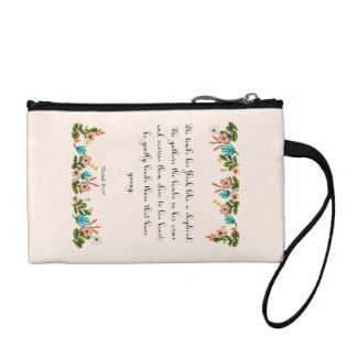 Encouraging Bible Verses Art - Isaiah 40:11 Coin Wallets