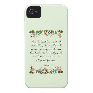 Encouraging Bible Verses Art - Isaiah 51 11 Case-Mate iPhone 4 Case